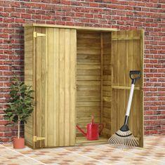 Szopa na narzędzia, 123x50x171 cm, impregnowane drewno sosnowe