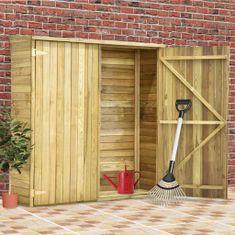 Szopa na narzędzia, 163x50x171 cm, impregnowane drewno sosnowe