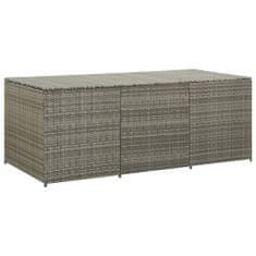 Zahradní úložný box polyratan 180 x 90 x 75 cm šedý