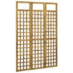 3-panelový paraván masívne akáciové drevo 120x170 cm