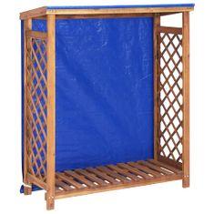 shumee Přístřešek na dříví 105 x 38 x 118 cm masivní akáciové dřevo