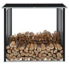 Kôlňa na drevo antracitová 172x91x154 cm pozinkovaná oceľ