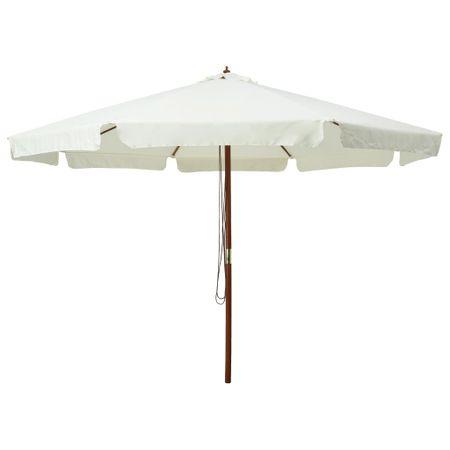 shumee homokfehér kültéri napernyő farúddal 330 cm
