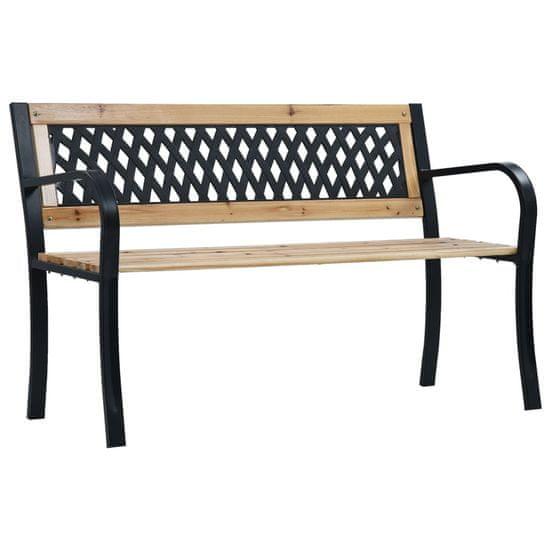 shumee Zahradní lavice 120 cm dřevo