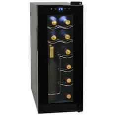 Chłodziarka do wina, 35 l, 12 butelek, wyświetlacz LCD
