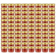 shumee Zavařovací sklenice se zlatými víčky 96 ks 110 ml