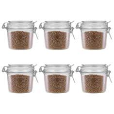 shumee Skladovacie poháre s uzatváracími viečkami 6 ks 340 ml