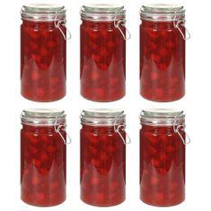 shumee Skladovacie poháre s uzatváracími viečkami 6 ks 1000 ml