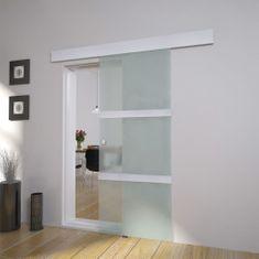 shumee Posuvné dvere, sklo a hliník 178 cm, strieborné
