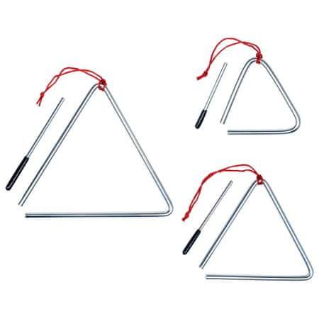 Zestaw trójkątów, 3 szt., stal nierdzewna