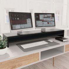 shumee Stojan na monitor černý 100 x 24 x 13 cm dřevotříska