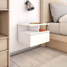 shumee Nástěnné noční stolky 2 ks bílé 40 x 31 x 27 cm dřevotříska