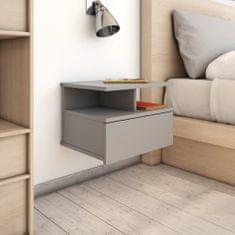 shumee Nástěnné noční stolky 2 ks šedé 40 x 31 x 27 cm dřevotříska