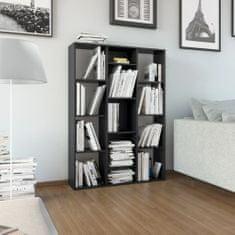 shumee Knihovna/dělící stěna černá 100 x 24 x 140 cm dřevotříska