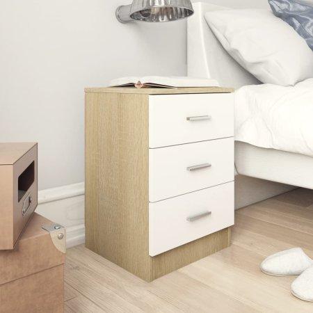shumee fehér-Sonoma színű forgácslap éjjeliszekrény 38 x 35 x 56 cm