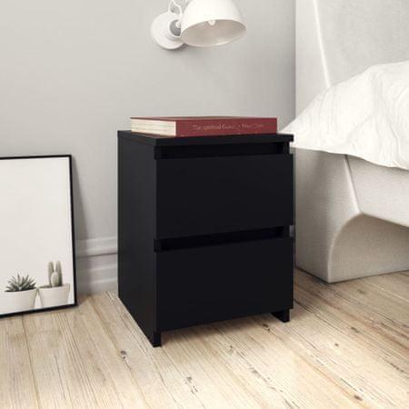 shumee 2 db fekete forgácslap éjjeliszekrény 30 x 30 x 40 cm