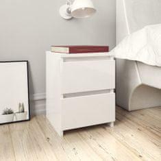 shumee magasfényű fehér forgácslap éjjeliszekrény 30 x 30 x 40 cm