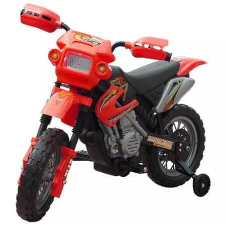 shumee Gyerekek Elektromos Piros Motorkerékpár