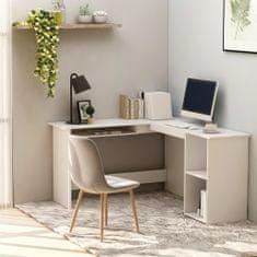 shumee Rohový psací stůl bílý 120 x 140 x 75 cm dřevotříska