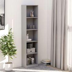 shumee Knihovna s 5 policemi šedá 40 x 24 x 175 cm dřevotříska