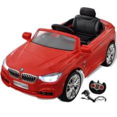 BMW - samochód zabawka dla dzieci na baterie z pilotem czerwony