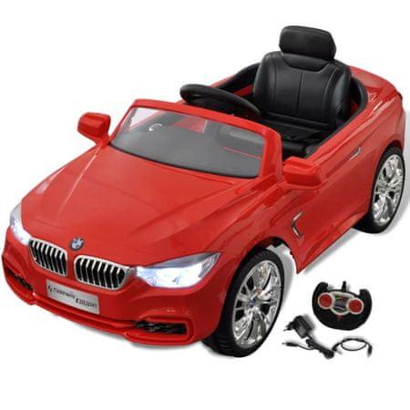 shumee Rdeči BMW Otroški Avto na Baterijski Pogon + Daljinski Upravljalnik