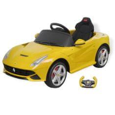 Samochód - jeździk Ferrari F12, żółty