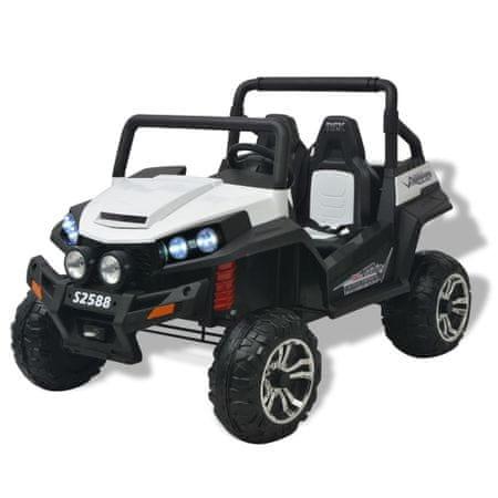 shumee Elektryczny samochód dla dzieci XXL, 2-osobowy, biało-czarny