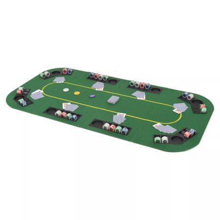 slomart Zložljivo poker namizje za 8 igralcev pravokotno zeleno