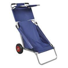 Przenośny wózek i krzesło w jednym, składany, niebieski