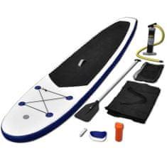 Stand up paddleboard SUP, nafukovací, modro biely