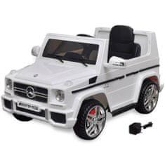 Autko elektryczne biały Mercedes Benz G65 SUV 2 silniki, biały