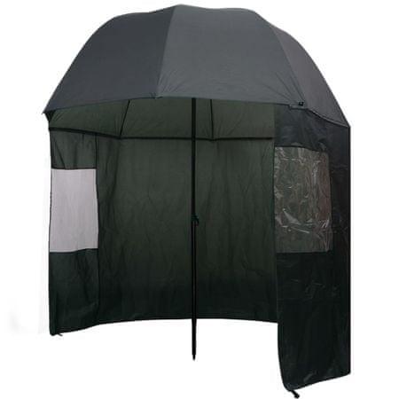 shumee horgászesernyő 300x240 cm zöld