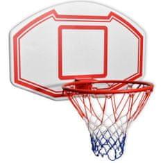shumee 3-dielna sada basketbalového koša na stenu, 90x60 cm