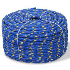 Linka żeglarska z polipropylenu, 10 mm, 50 m, niebieska