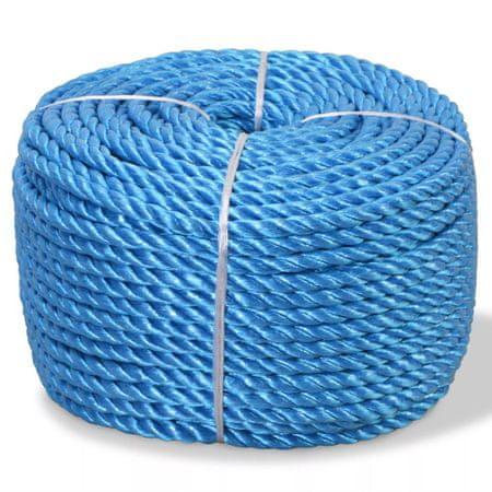 shumee Zvita vrv polipropilen 12 mm 100 m modra