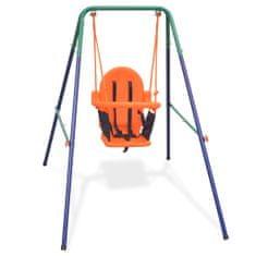 Detská hojdačka s bezpečnostným postrojom, oranžová