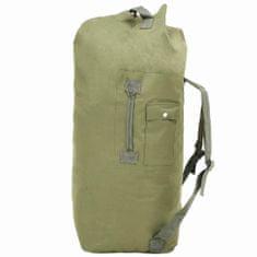 shumee Sportovní taška v army stylu 85 l olivově zelená