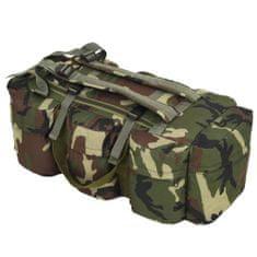 shumee Sportovní taška 3v1 v army stylu 120 l maskáčová