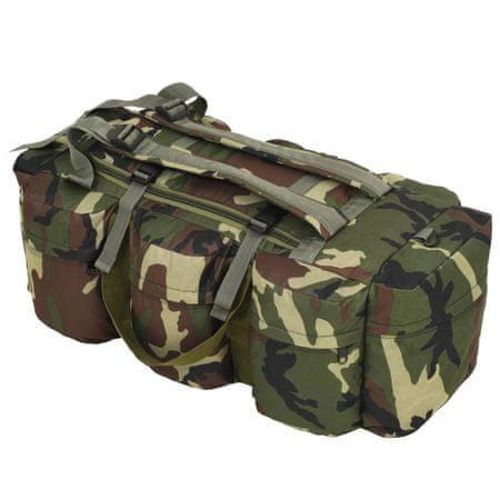 shumee 3-v-1 Potovalna torba vojaškega stila 120 L kamuflažne barve