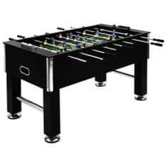 Stół do gry w piłkarzyki, stal, 60 kg, 140x74,5x87,5 cm, czarny