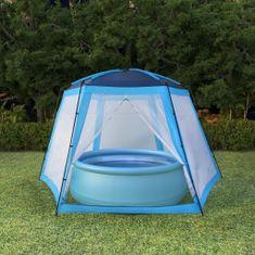 shumee Stan na bazén modrý 500x433x250cm látkový