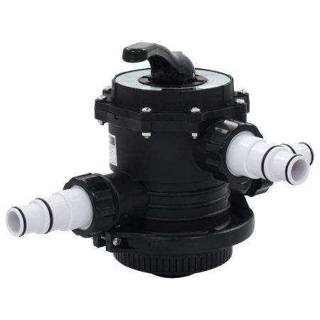 """shumee Ventil z več priključki za peščeni filter ABS 1,5"""" 6-smerni"""