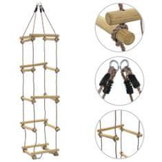 Drabinka sznurowa dla dzieci, 200 cm, drewniana
