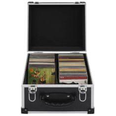 shumee Puzdro na 40 CD hliníkové ABS čierne