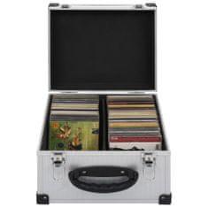 shumee Puzdro na 40 CD hliníkové ABS strieborné