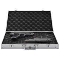 shumee Kufr na zbraň hliník ABS stříbrný