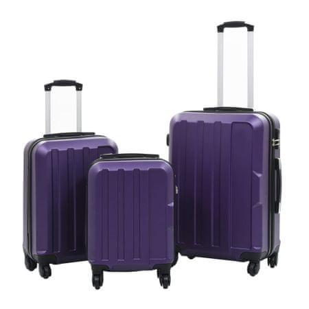 shumee 3 db lila keményfalú ABS gurulós bőrönd