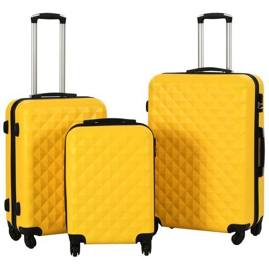 shumee Sada skořepinových kufrů na kolečkách 3 ks žlutá ABS