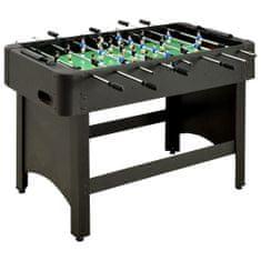 Stół do gry w piłkarzyki, 118 x 95 x 79 cm, czarny